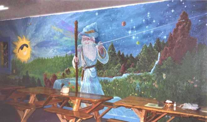A mural artist in grants pass a southern oregon muralist for Dark side of the moon mural